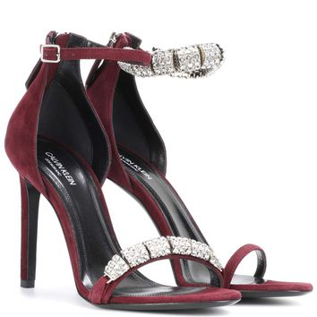 Camelle embellished suede sandals