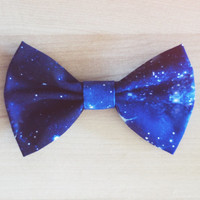 Star Constellation Outer Space Hair Bow / Bow Tie Pin