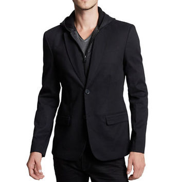 Guess Gavin Twill Hooded Blazer