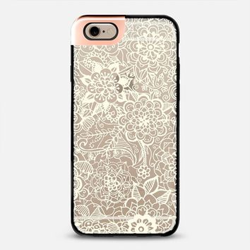 Cream Nautical Lace on Clear iPhone 6 case by Tangerine- Tane   Casetify
