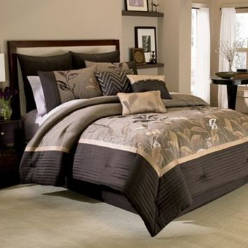 Manor Hill® Eden 8-Piece Comforter and Sheet Set in Thistle