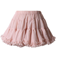 Chiffon Layer Pink Petticoat Skirt