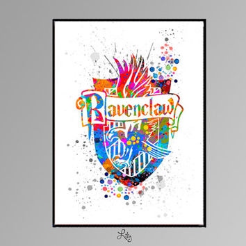 Ravenclaw Crest from Harry Potter Movie Color by LilytheLovely