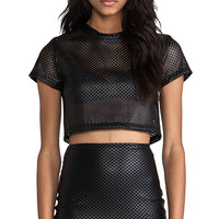 Nookie Bronx Baby Crop Tee in Black