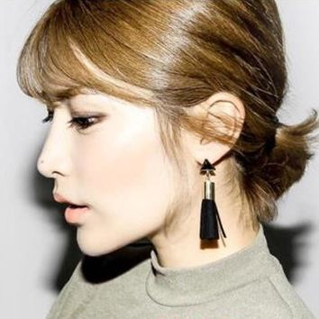 Triangle Tassel Drop Earrings