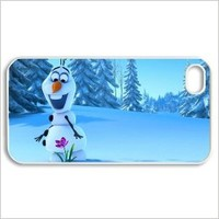 Olaf-Frozen Stylish Printing Iphone 4 DIY Cover Custom Case-0379-04