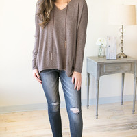Sweet and Gentle V-Neck Soft Sweater