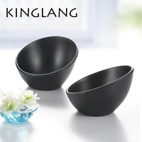 Black japanese style tableware vegetable ice cream bowl melamine hot pot bowls INMITATION porcelain tableware KOREAN SALAD bowl