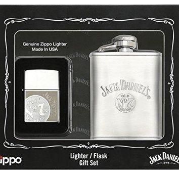 Zippo Jack Daniels Lighter Flask Gift Set