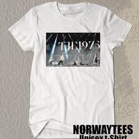 The 9175 Band Shirt The1975 Live Show Symbol Printed on Black and White t-Shirt For Men or Women Size TS 78