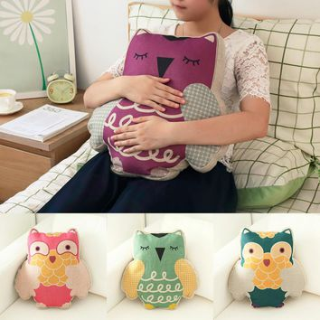 2017 Hot Sale Cartoon Lovely Design Home Office Pillow Cushion Home Sofa Decorative Owl Pillow PP Cotton Creative Pattern Pillow