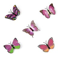 Baby Girl Plastic Butterfly Flower Metal Hair Clip Hair Claw Clamp Hair Pins