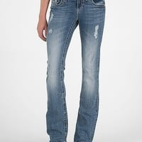 Miss Me Leaf Boot Stretch Jean
