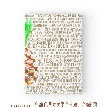 Psych Burton Guster Journal Pineapple Notebook Television Sketchbook TV Show Nickname Fandom Humor Quote Paper Graph Ruled Lined Blank Art