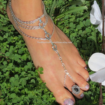 One Wedding Foot Jewelry Beach Wedding Barefoot Sandals, Wedding Foot Jewelry Barefoot Sandal Anklet, Beach Wedding Sandals Shoes