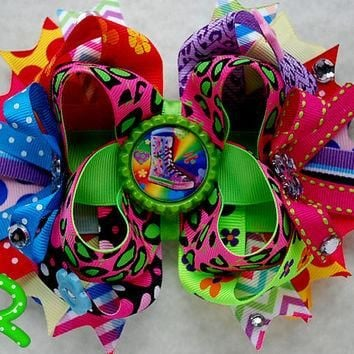 MTM twinkle toes shoes hair bow , all star , converse , skechers hair bow , boutique