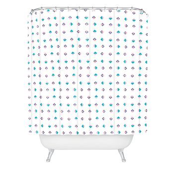 Laura Redburn Pastel Arrows Shower Curtain