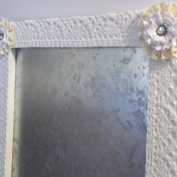 Shabby Crochet Lace Magnetic Bulletin Board