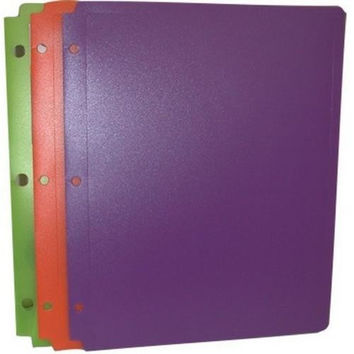 "Two Pocket Plastic Folder - ""Snap In"" - 9.5"" x 11.5"""