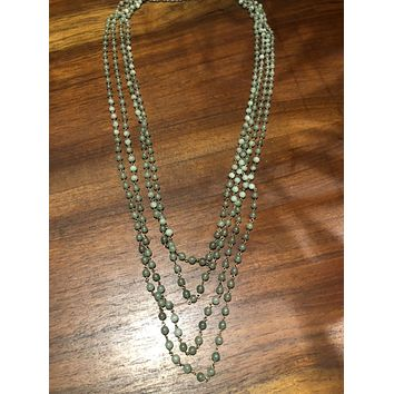 Nemesis vintage Jade beaded 176 in necklace