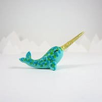narwhal figurine totem animal by HandyMaiden on Etsy