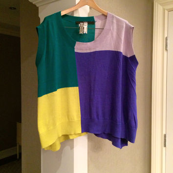 Colorblock Sweater Vest  (Cut25)