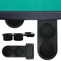 Retractable 2-cup Plastic Cupholder - under table mount