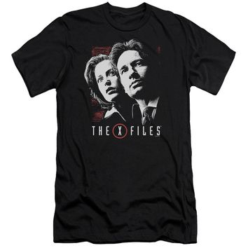 X Files - Mulder & Scully Premium Canvas Adult Slim Fit 30/1 Shirt Officially Licensed T-Shirt