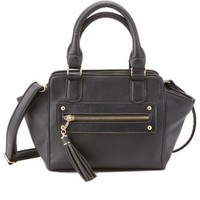 Black Mini Cross-Body Satchel by Charlotte Russe