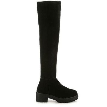CREYONIG Coolway Bombi-  Over-the-Knee Black Platform Boot