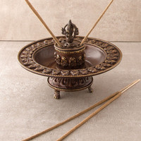 Tibetan Buddha Incense Burner