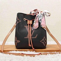 Louis Vuitton LV Women Fashion Bucket Bag Crossbody Satchel