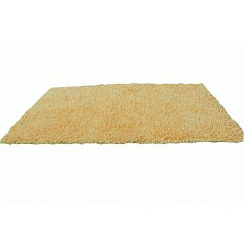 Tache 100% Cotton Chenille Butter Yellow Rug