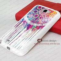 Dream cather  Samsung Galaxy Note 2 case rubber case Note II case N7100 case Samsung  Galaxy S4 case I9500 case Silicon cases