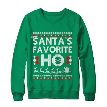 Santa's Favorite Ho Funny Ugly Sweater Christmas