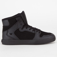 Supra Vaider Boys Shoes Black/Black  In Sizes