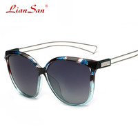 Liansan 2016 Fashion Square UV Polarized  Men & Women Alloy Frame Sunglasses P073