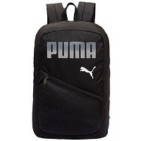 PUMA street fashion men and women outdoor travel sports backpack Black