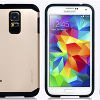 Dual Plastic & TPU Case for Samsung Galaxy S5
