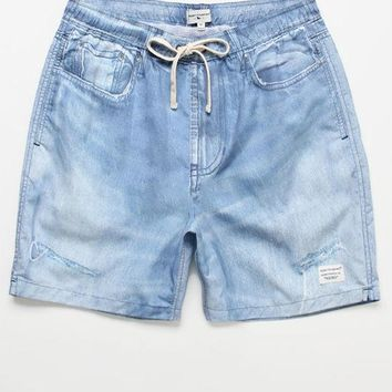 CREYONDI5 Modern Amusement Denim 17' Swim Trunks
