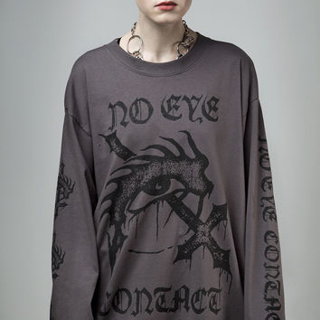 No Eye Contact Long Sleeve Tee