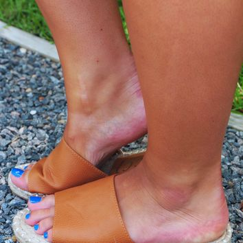 Let's Have Some Fun Sandals: Tan