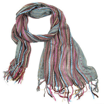 woven winter scarf five colours by charlotte's web | notonthehighstreet.com