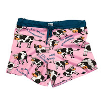 Moody In The Morning Cow Womens Pajama Boxers