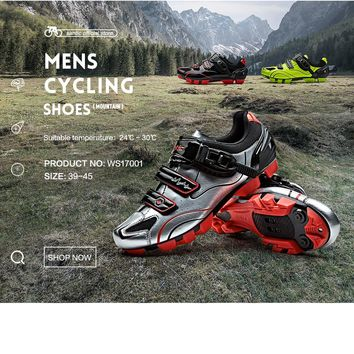 Santic MTB Cycling Shoes zapatillas ciclismo Bicycle Sports Shoes Cleated Shoes Men Cycling Shoes  WMS17001