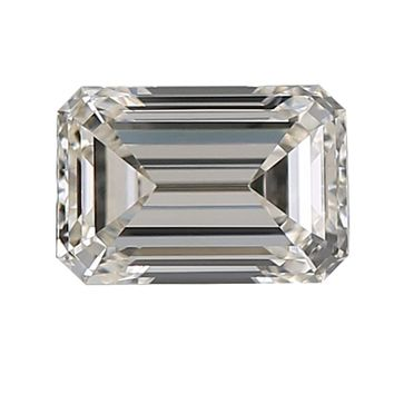 Diamond Veneer Cubic Zirconia Intensely Radiant Emerald Cut Shape Loose Stone
