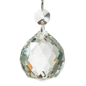 Authentic Glass Chandelier Crystals | 1.5 inch (40mm) Crystal Ball | Set of 5