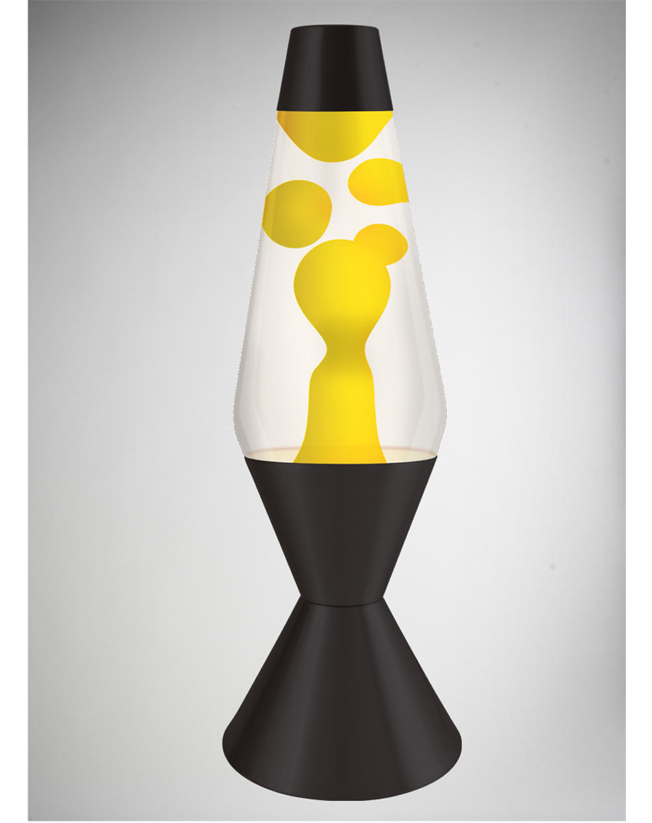 Lava Lamp With Yellow Lava Clear Liquid From Spencers Gifts