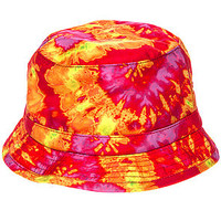The Sunset Tie Dye Bucket Hat in Sunset