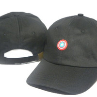 Black Captain America Embroidered Baseball Cap Hat